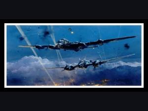 Lancaster Under Attack ~ Robert Taylor